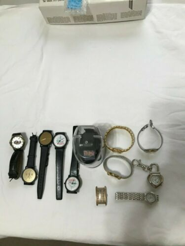 LOT OF 12 VINTAGE WATCHES-VARIOUS BRANDS, VARIOUS CONDITIONS