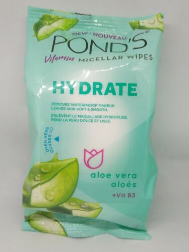 Pond's Vitamin Micellar Wipes, Hydrate, Removes Waterproof M