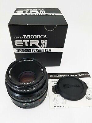 (NEW) Zenza Bronica 6x4.5 ETR Si ZENZANON PE 75mm F2.8 Lens