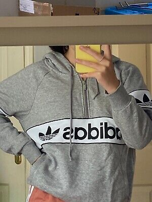 Adidas grey hoodie woman's used size 8