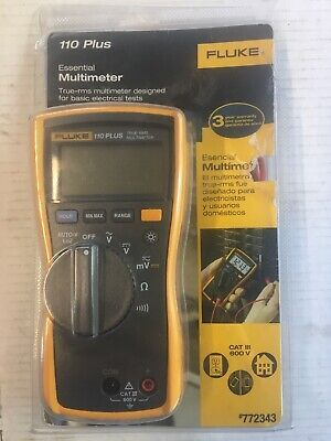 Fluke 110 Plus True Rms Digital Meter 600-v Multimeter Test Tool Open Box 0003