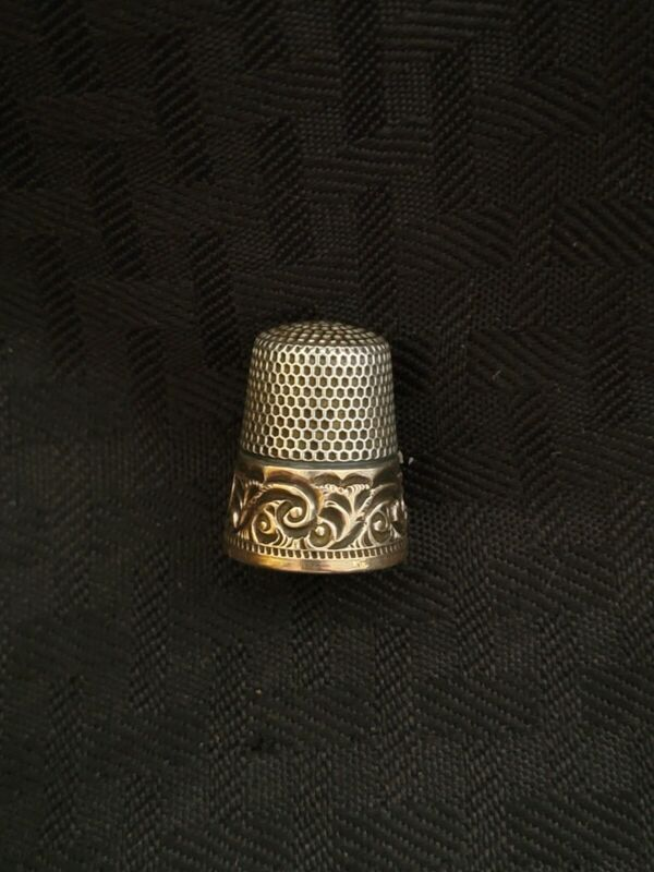 Antique 14kt Gold And Sterling Ketcham And Mcdougall Thimble Rare Estate Find