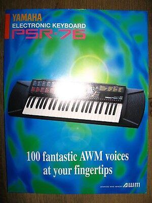 Yamaha PSR-76 Electronic Keyboard info sheet brochure ad comprar usado  Enviando para Brazil