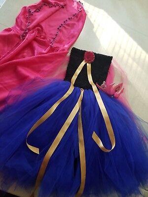 FROZEN ANNA Tutu Costume Dress w/ Cape,Tiara,Girls sz 8-10,originally from Etsy