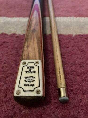 Lewis and Wilson 2pc Ash Rosewood Snooker Pool Cue