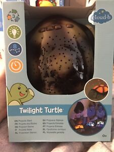 Twilight turtle star projector for children's room brand new