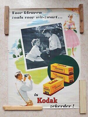 KODAK VERICHROME 98X71CM 50'S? VINTAGE DESIGN ADVERTISING PUBLICITÉ RECLAME