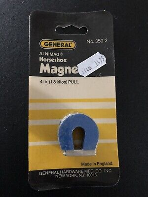 General Tools 350-2 Horseshoe Alnimag Magnet 4lb Pull Nos