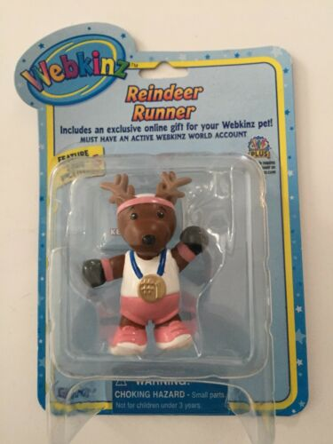 GANZ Webkinz Reindeer Runner Figure with Code Enclosed