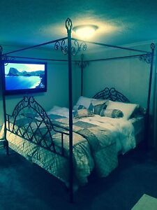 Beautiful king size canopy bed
