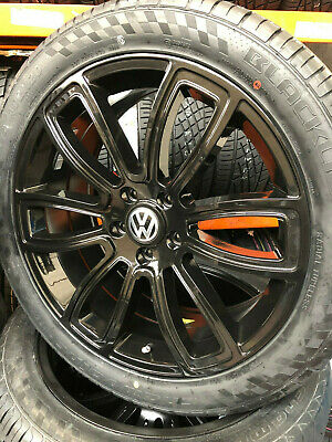 """20"""" JBW SPUR GLOSS BLACK ALLOY WHEELS+TYRES TO FIT VW T5 SET OF 4"""