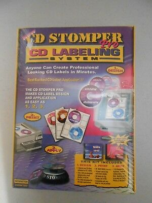 New Sealed Cd R Stomper Pro Kit Professional Labeling Design System Applicator