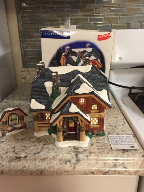 "Dept. 56 Snow Village ""Moonlight Bay Bunk And Breakfast"