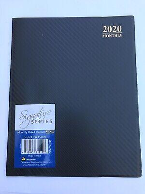 2020 Monthly 8x10 Planner Calendar Organizer Student Agenda Black