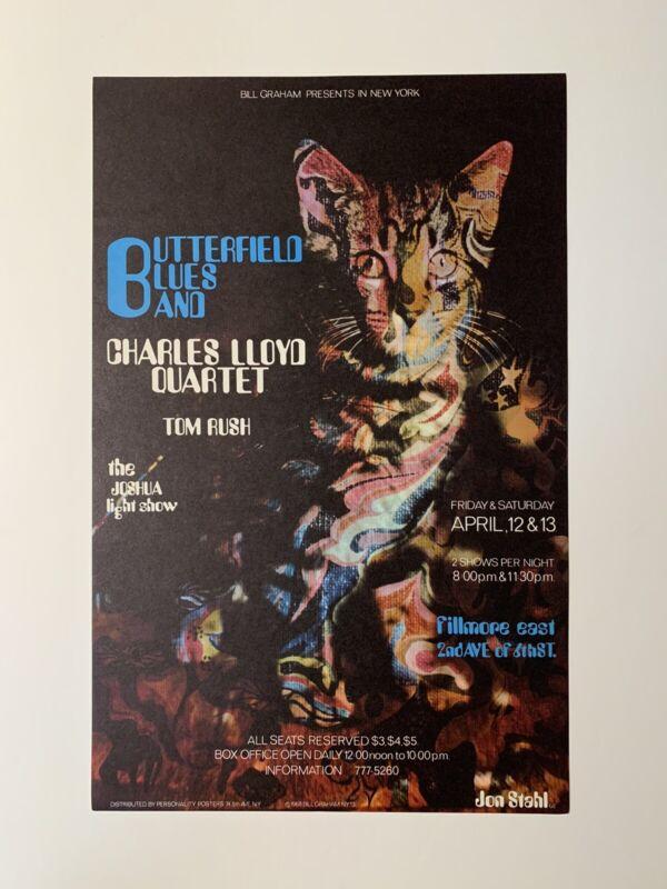 Paul Butterfield Blues Band Original 1968 Concert Poster
