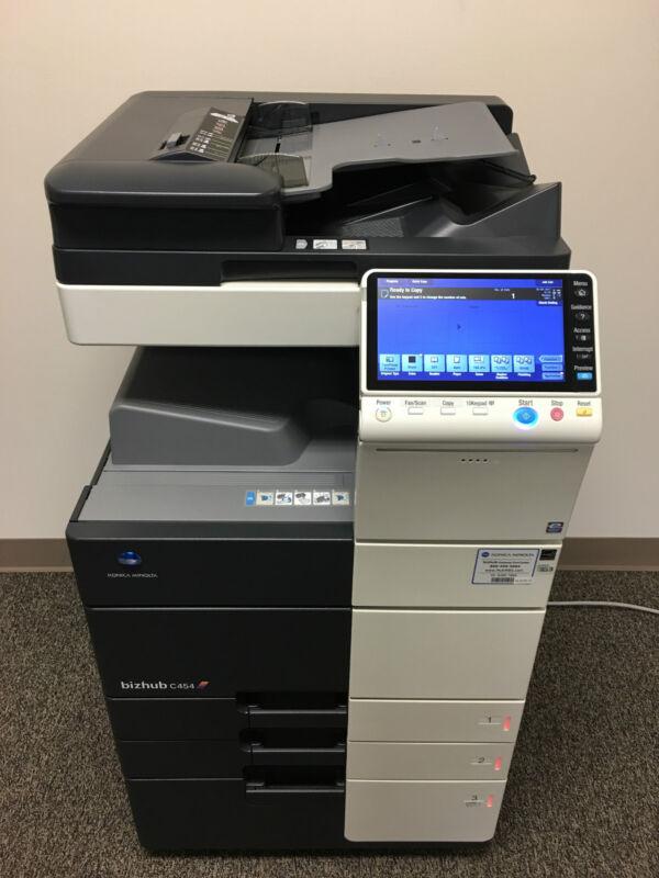 Konica Minolta Bizhub C454 Copier Printer Scanner Fax Low 295k Total Page Count