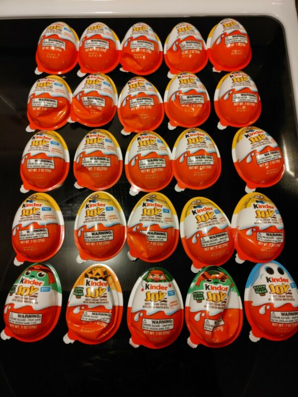 Lot of 25 Kinder Egg Toys- ONLY TOYS - assort  NO CHOCOLATE -