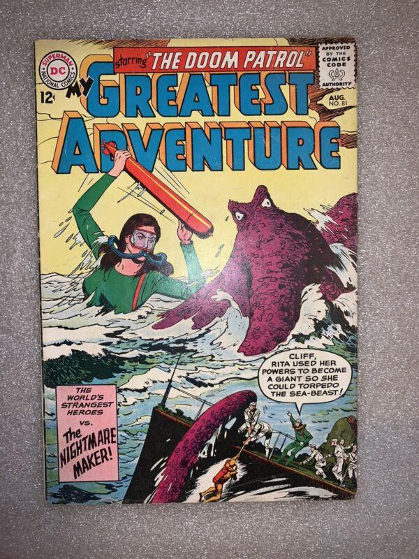 My Greatest Adventure #81 2nd Doom Patrol Fine DC Comic 1963 HBOMax