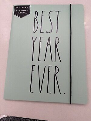 New Rae Dunn 2021 Best Year Ever Planner Turquoise Aug 2020-dec 2021 Organizer