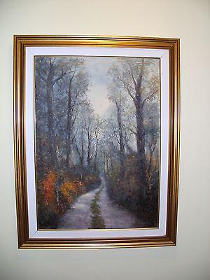 """Original Ölgemälde Italien """"Evangelisti"""" - Landschaft Waldweg - mit Zertifikat"""