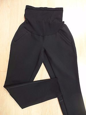 A PEA IN THE POD MATERNITY BLACK STRETCH SKINNY PANTS M