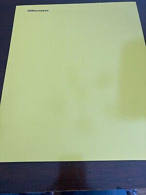 Office Depot Folder 2 Pocket Yellow Laminated Paper 3 Hole