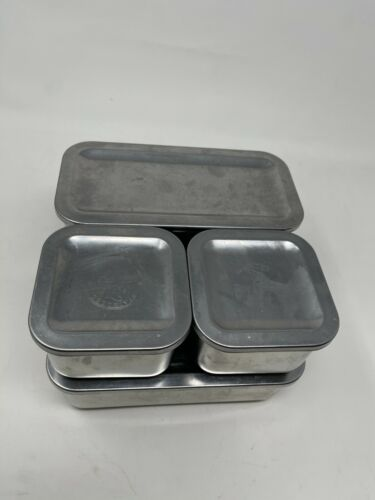 8 Piece Revere Ware 1801 Stainless Steel Refrigerator Boxes Storage Containers