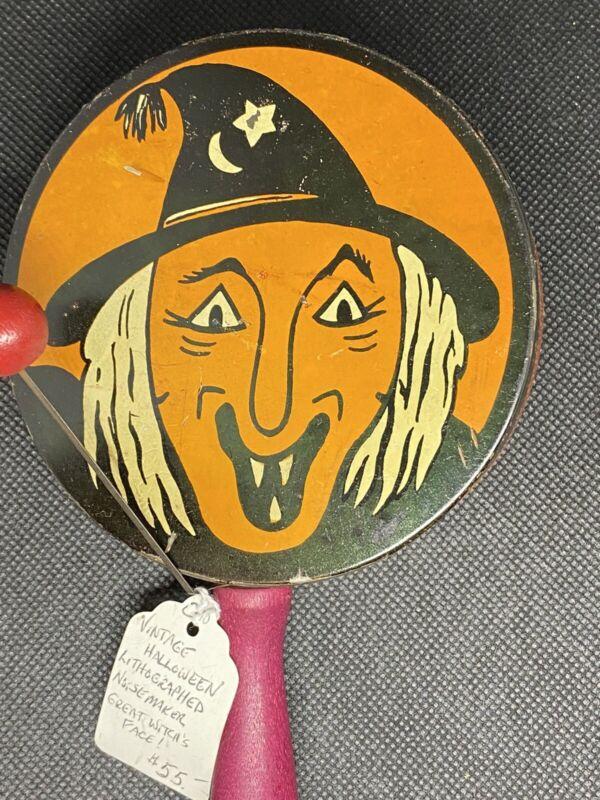 Vintage Halloween Noisemaker - Witch