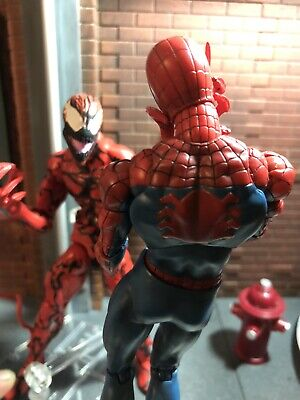 marvel legends Custom Animated Series Spider-Man Carnage  3 Head Sculpts