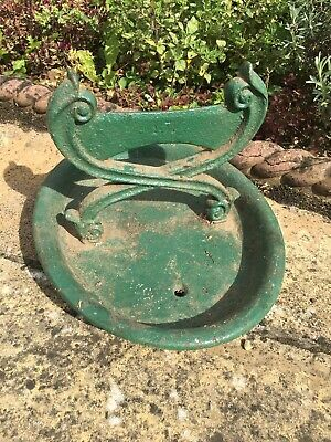 Original Vintage Antique Cast Iron Boot Scraper & Tray c1900
