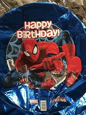 Spider-man Happy Birthday Party Supplies Lot of 3- Bulk 18