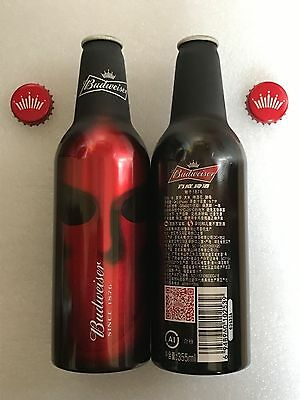 "2017 China Budweiser Beer ""Drama Sleepless Nights"" 355ml Empty Aluminum Bottle"