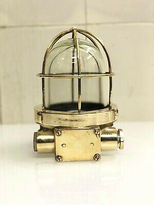 vintage Nautical Marine Ship Navigation old Authentic Lamp brass /&copper  2 pcs