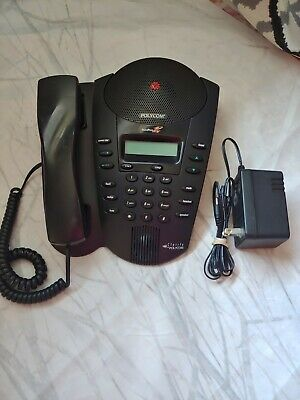 Polycom Se-220 Soundpoint Pro 2201-66315-001 Conference Phone With Power Cord