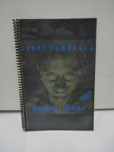 Vintage Jerry Cantrell Boggy Depot 1998 Tour Itinerary 2nd Leg w/ Metallica