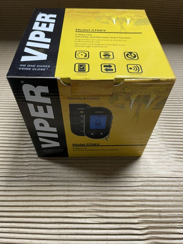 NEW Viper Responder LC3 5706V 2-Way Remote Start and Security System