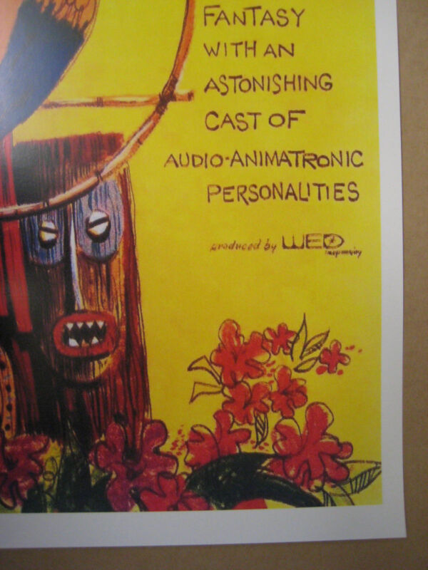 Vintage Disney 1963 Tiki Tropical Serenade Collector/'s Poster Print B2G1F