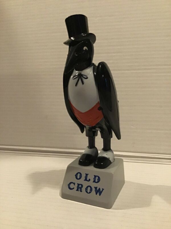 Old Crow Plastic Figurine, Advertising Piece from Liquor Store