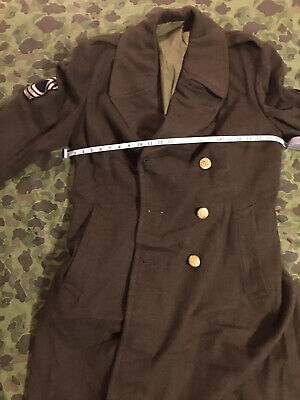 Ww2 Us Army Roll Collar Em Mastersgt Big Size 46 Xl