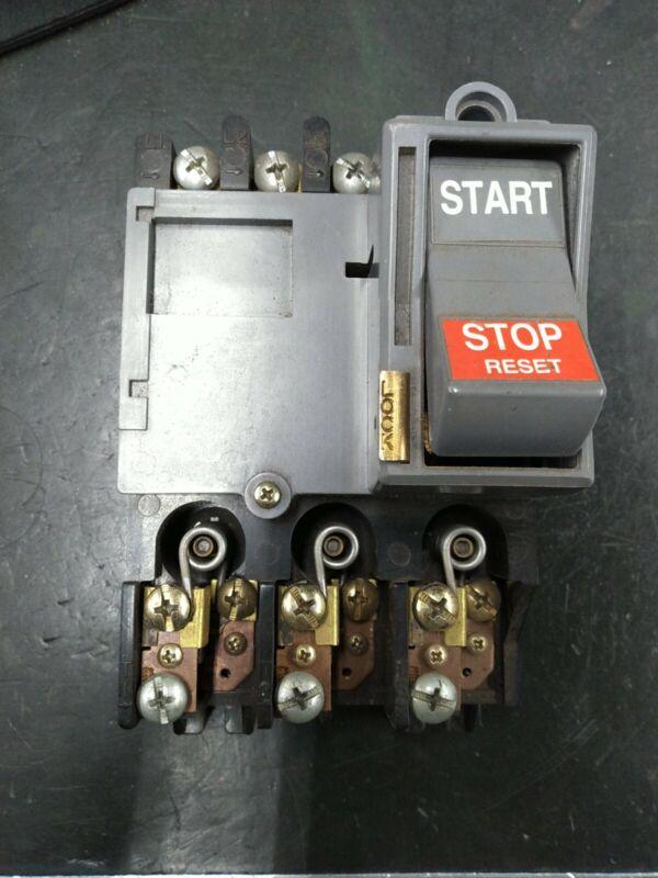 Furnas 11CB3B Manual Starter 200-575VAC 3 Phase Tested Made in USA