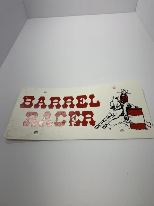 Vintage BARREL RACER License Plate