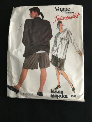 Vintage ISSEY MIYAKE Vogue Uncut Sewing Pattern 1869 Jacket Shirt Shorts Size 16