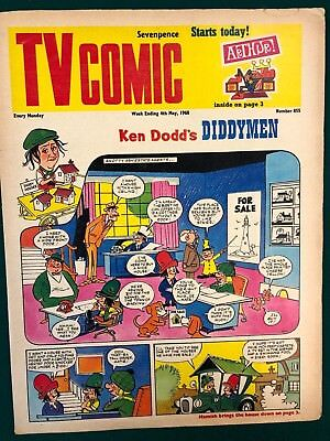 TV COMIC #855 weekly British comic book May 4 1968 Doctor Who in full color