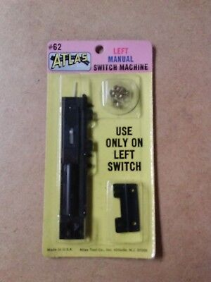 Atlas Left Manual Switch Machine HO Scale Railroad NEW/SEALED