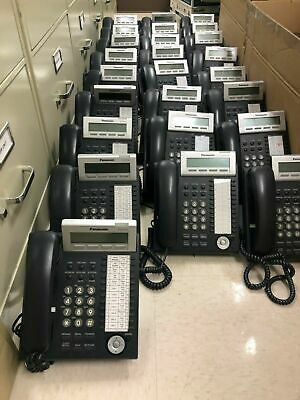 Panasonic Office Phone Systems- Set Of 25 Kx-dt343 Phones Kxtde100 And Kx-tva50