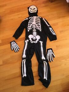 Costume d'halloween squelette 7-8 ans medium