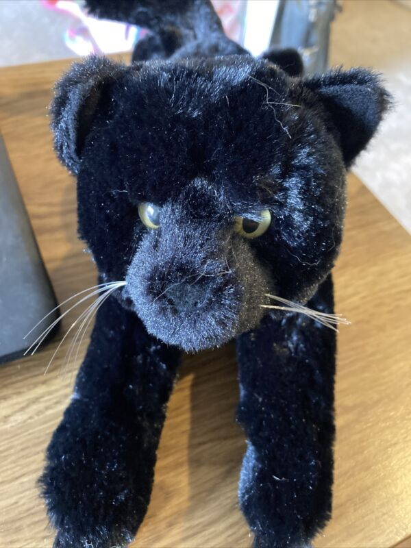 """Plush Kitty cat kitten Black Panther toy 12"""" Unbranded , nice condition"""