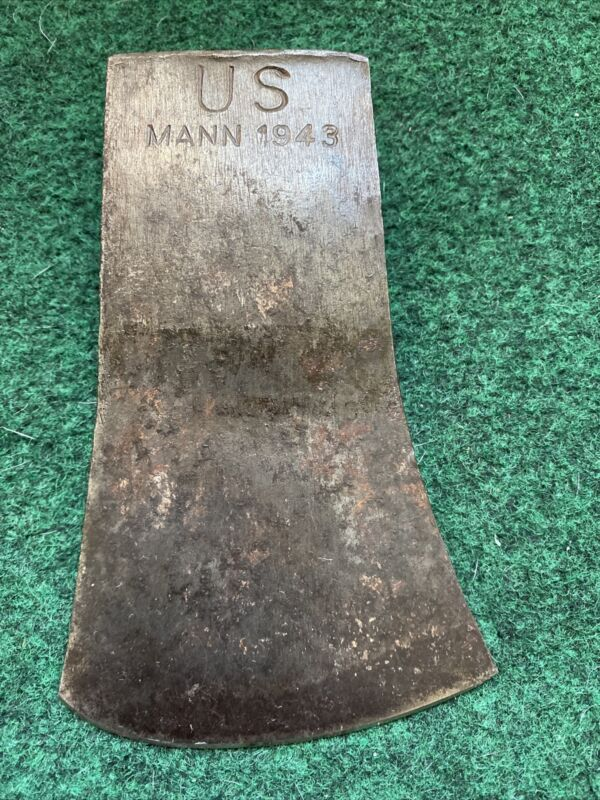 WW2 COLLECTIBLE 1943 US MANN hatchet / AXE head