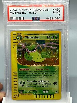 🌱 Victreebel Holo - Pokemon Aquapolis Set - PSA 9 - MINT 🌱