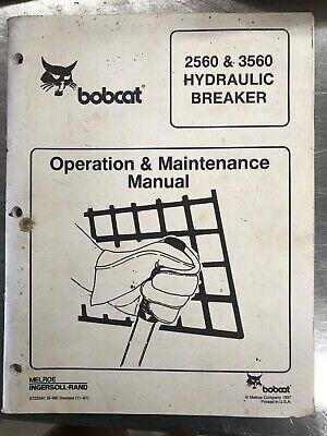 Bobcat 2560 3560 Hydraulic Breaker Operation Maintenance Manual